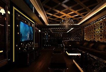 Design Cafe VIP Karaoke Room Mewah Elegant