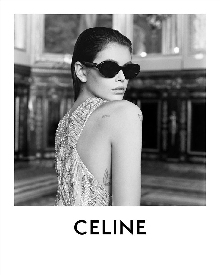 Top Model Kaia Gerber is the Face of CELINE Summer 2021 Collection