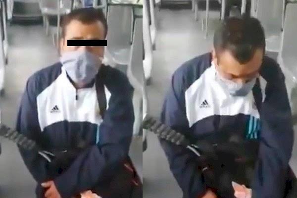 """Acosador pide perdón de rodillas;  """"Estoy muy arrepentido, soy buena gente""""; policías lo dejaron ir libre"""
