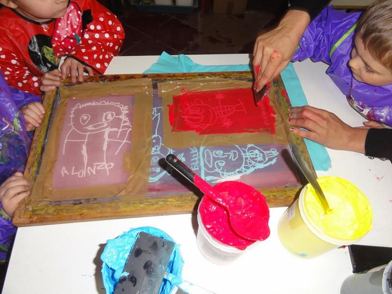 Atelier de sérigraphie école maternelle