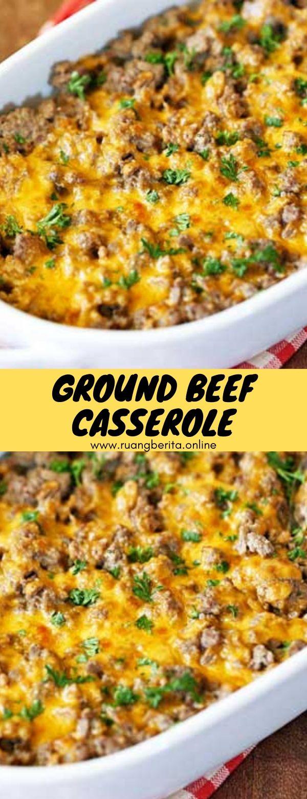 Ground Beef Casserole #maindish #dinner #ground #beef #casserole
