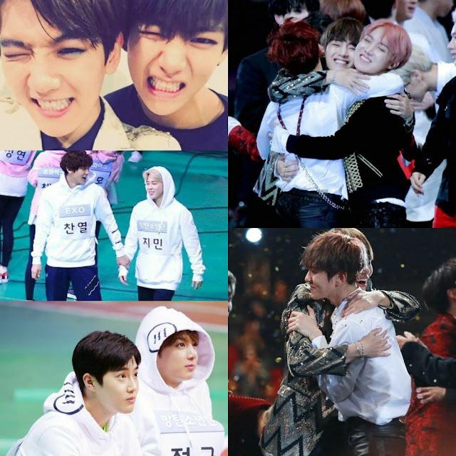 Kalbinizi eritecek sevimli EXO ve BTS etkileşimleri
