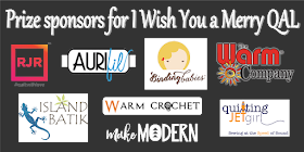 Grand prize sponsors for the I Wish You a Merry QAL
