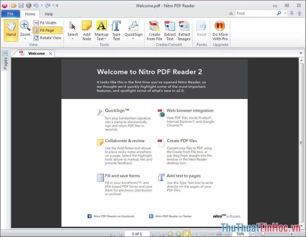 Download Nitro PDF Reader – Xem file PDF trên PC