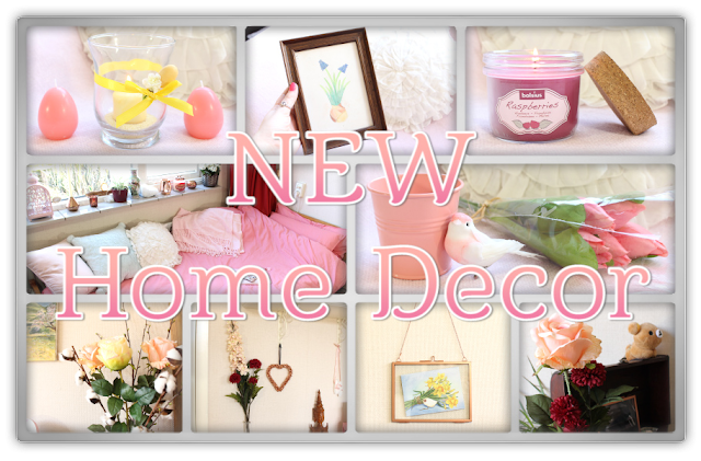 New home decor candles peach pink pantone coral pastel candle fake flowers spring haul review beauty blog blogger
