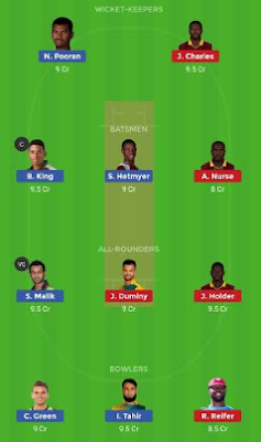 GUY VS BAR dream 11 team | BAR vs GUY
