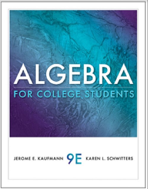 Algebra for College Students 9th Edition in pdf