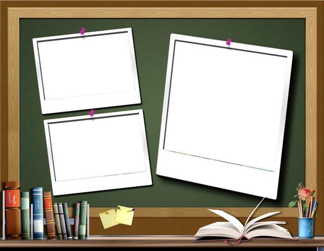 Marco digital para fotos con motivo del día del maestro