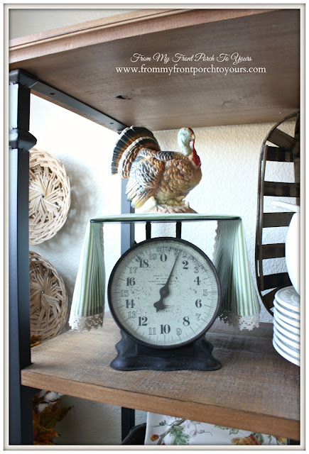 Vintage Turkey-Farmhouse Style- Fall Kitchen-From My Front Porch To Yours