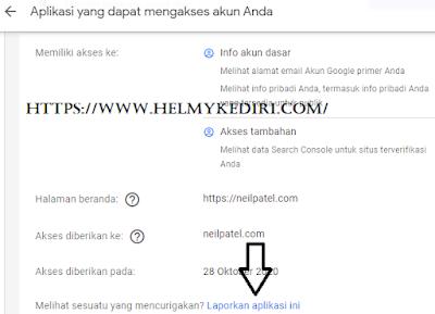 mengecek aplikasi dan layanan yang terhubung ke akun google3