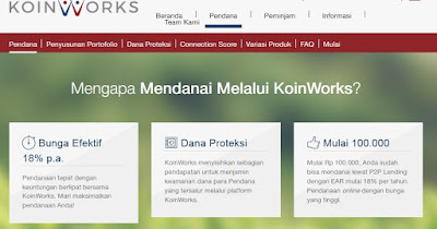 KoinWorks P2P lending finance