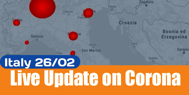 Every Update on Corona in Italy 26/02/2020