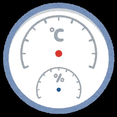 温度計・湿度計のイラスト(針なし)