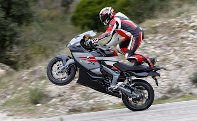 BMW super bike K1300 S in stunt hd image