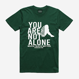GOMAGEAR You Are Not - Mental Health Matters Unisex Tee - Dark Green