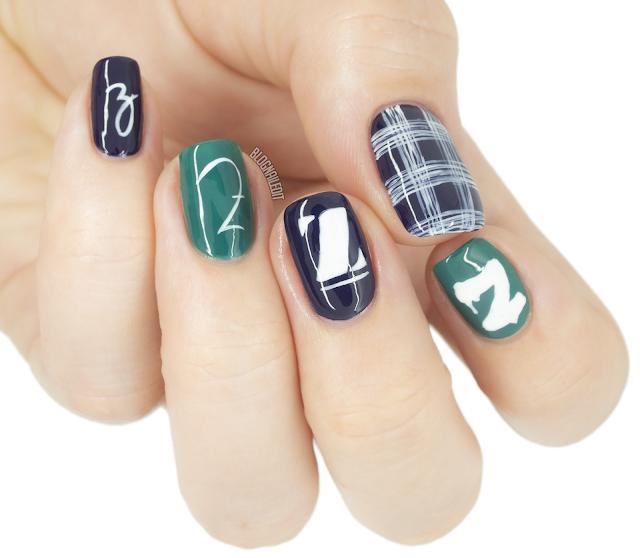 letter nail art