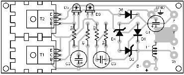 Parts Placement Layout DC Flourescent Lamp