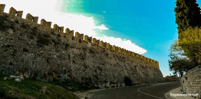 Muralhas da Fortaleza de Acronafplia, Nafplio, Grécia