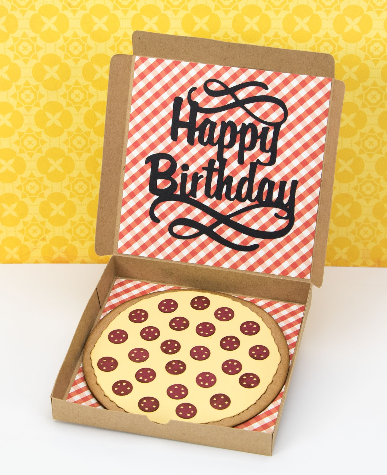 The Paper Boutique Pizza Box Birthday Card