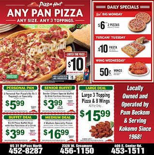 free Pizza Hut coupons february 2017