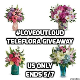 Enter to win the #LoveOutLoud Teleflora $75 Mother's Day Giveaway. Ends 5/7