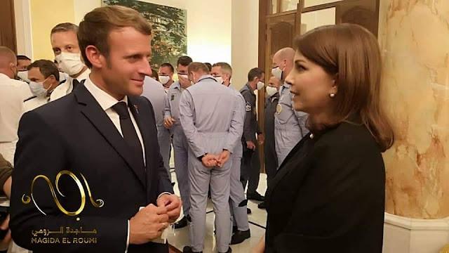 Majida Al Roumi meets Macron