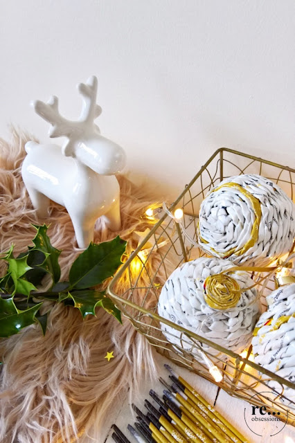 Christmas, Christmas decoration, Christmas baubles, reindeer, paper weaving, wicker paper, recycle, handmade, paper art, Boże Narodzenie, Christmas ornaments, dekoracje świąteczne, rękodzieło, papierowa wiklina