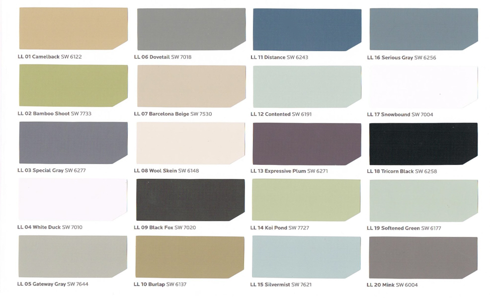 The color picker what color collection inspires you - Exterior paint colors ideas pictures collection ...