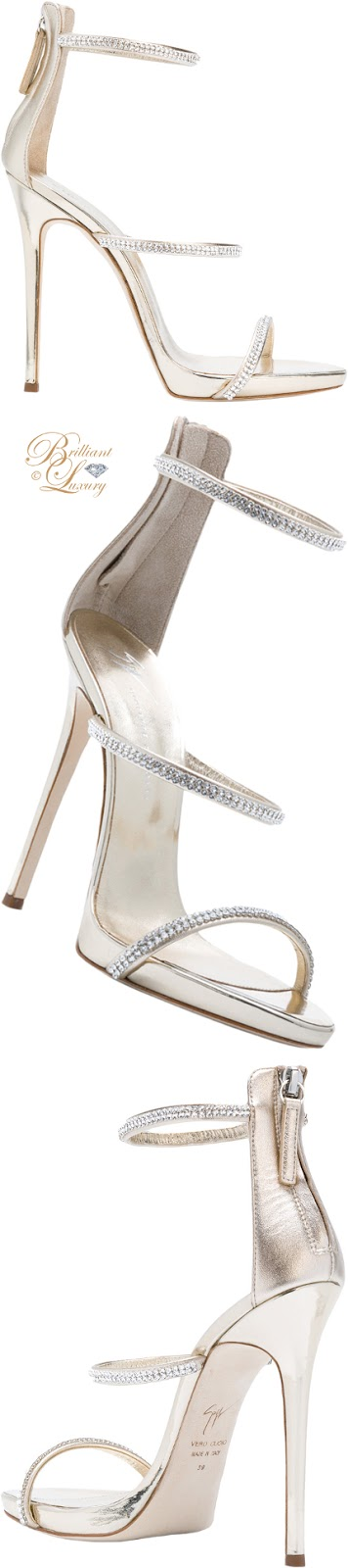 Brilliant Luxury ♦  Giuseppe Zanotti Harmony sparkle sandals