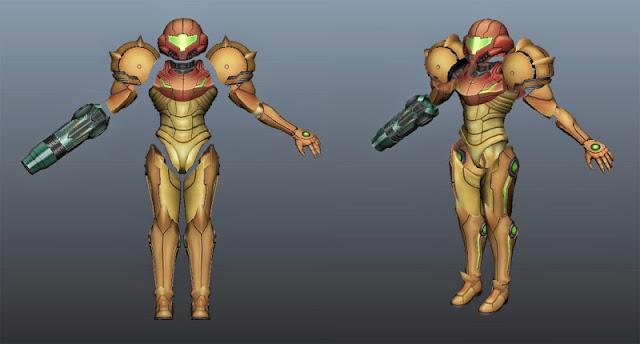 armadura de Metroid Prime a la medida hecho con impresión 3D