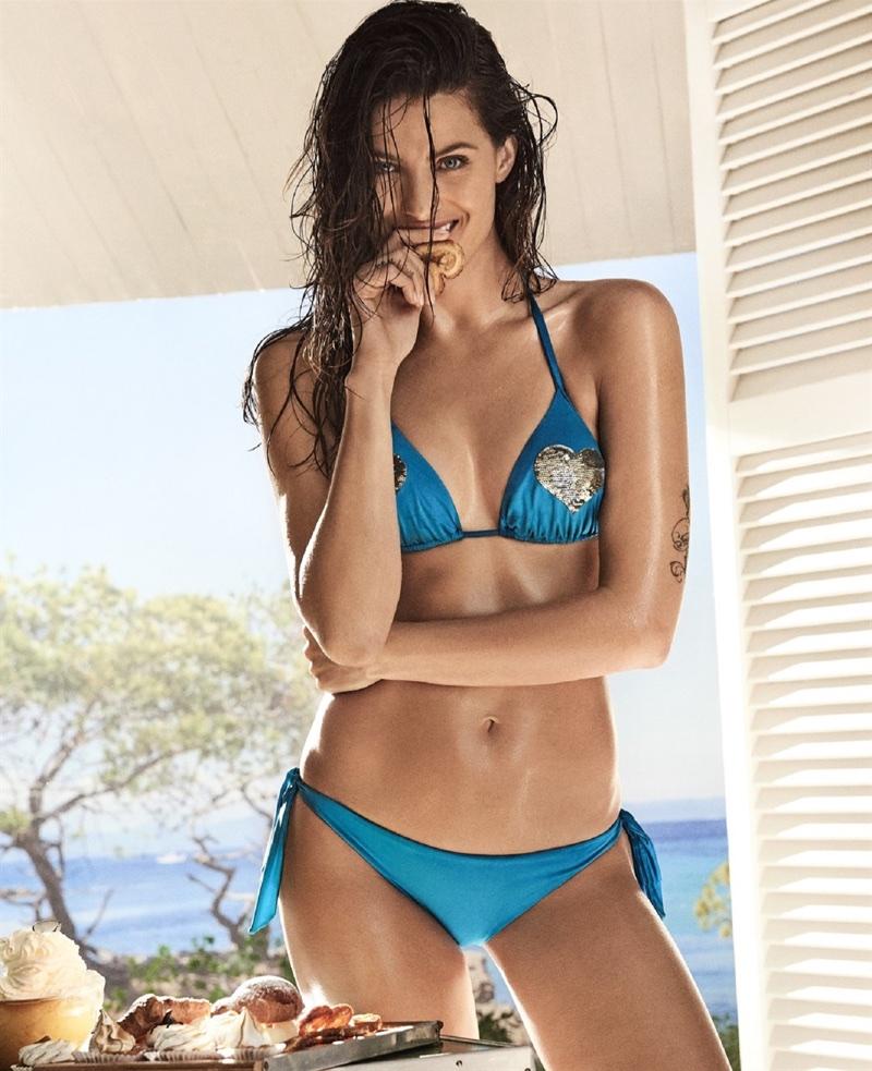 Isabeli Fontana stars in the Twinset Swimwear Campaign 2017