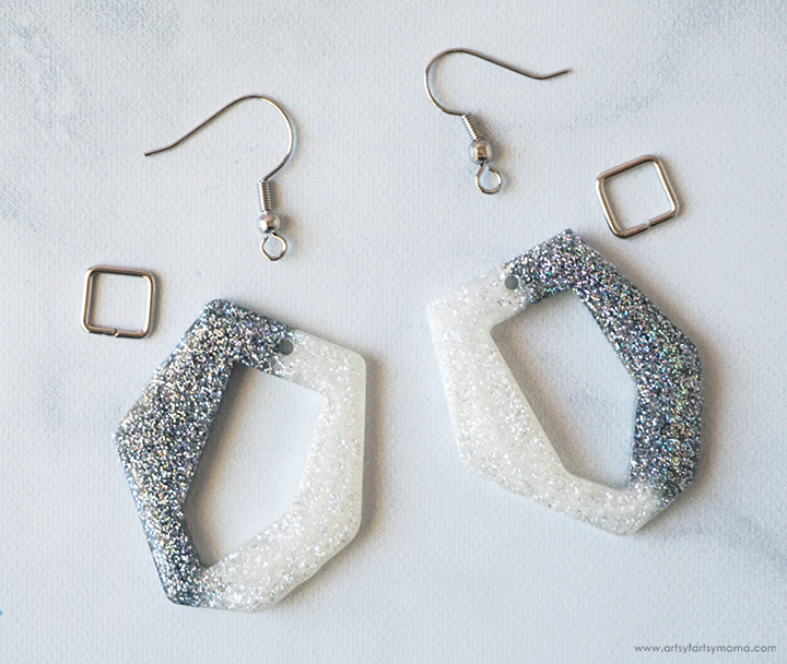 Cruella Inspired Resin Earrings