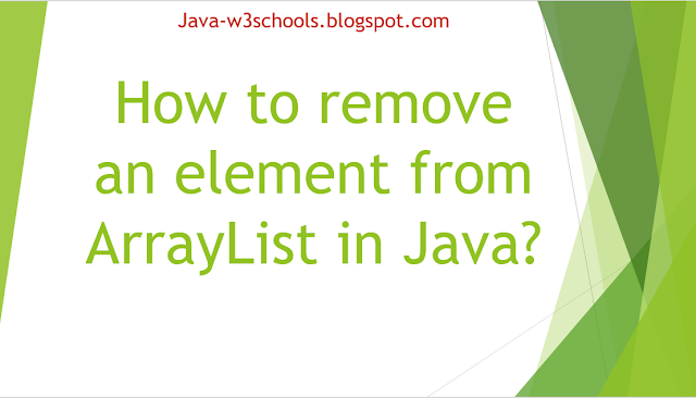 How to remove an element from ArrayList in Java