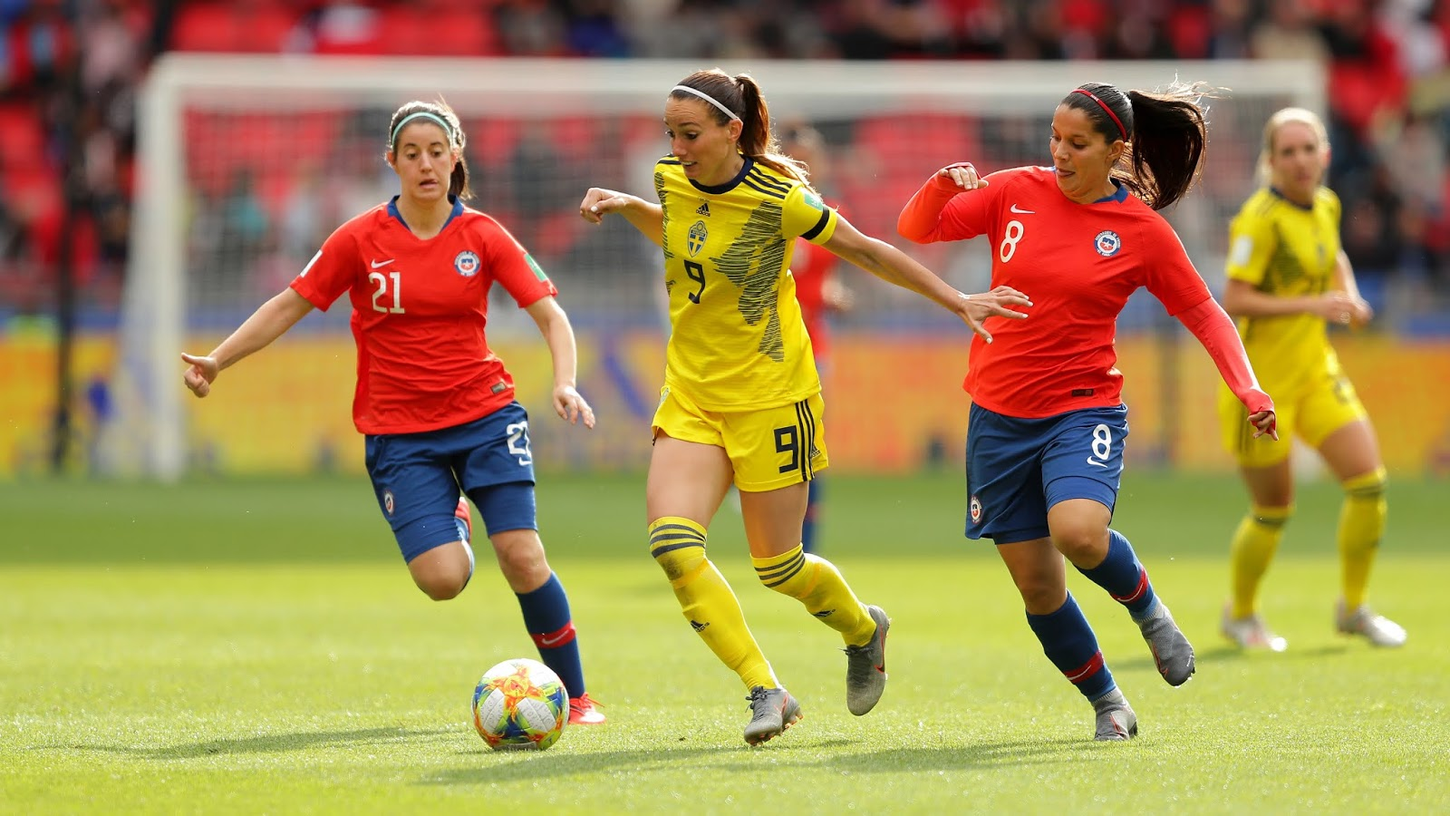 Chile y Suecia en Copa Mundial Femenina de Fútbol Francia 2019, 11 de junio