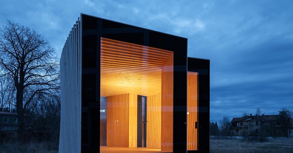 Nova visão sobre a microarquitetura: cabana em madeira