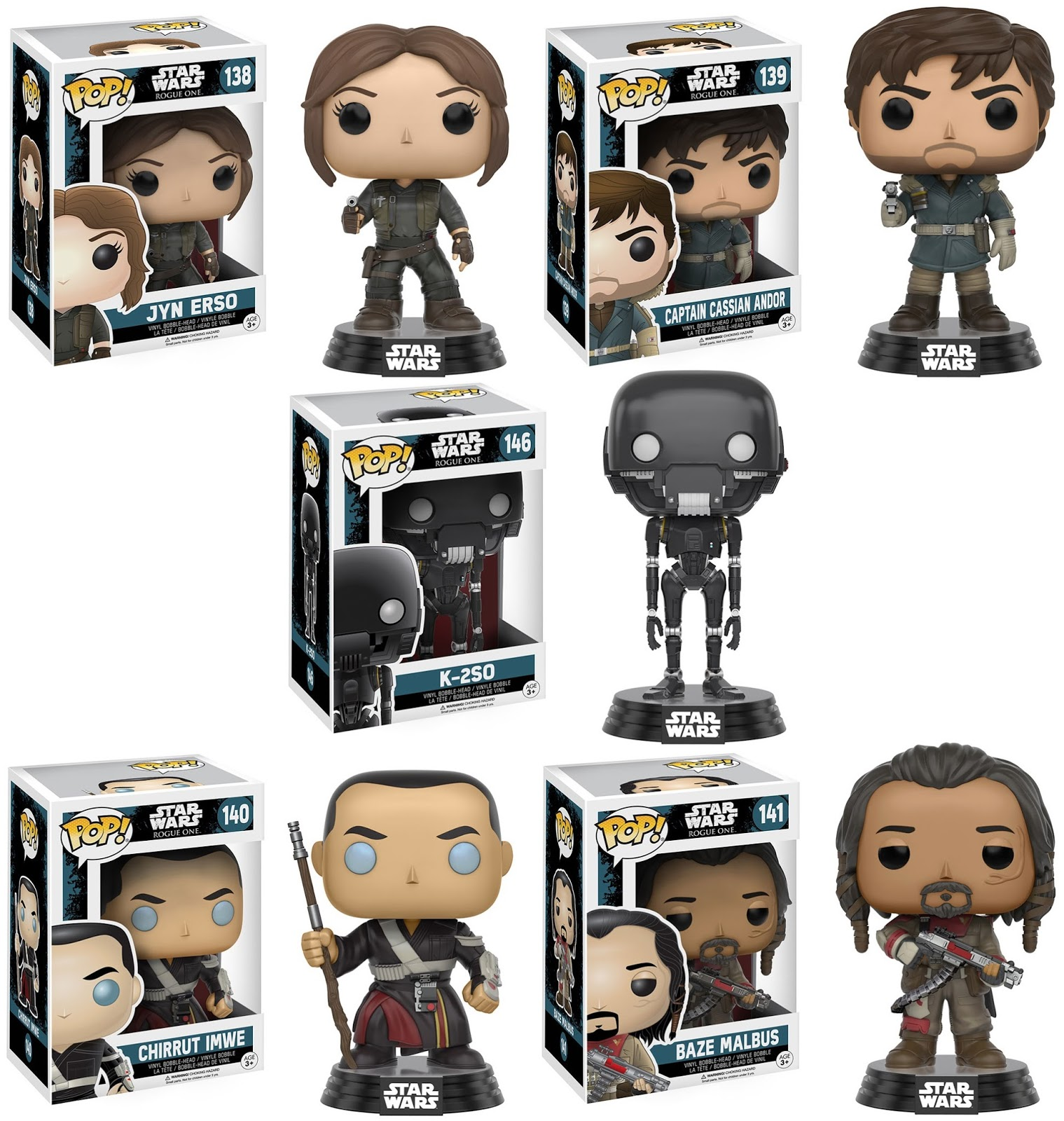 the blot says star wars rogue one pop vinyl figures by funko. Black Bedroom Furniture Sets. Home Design Ideas