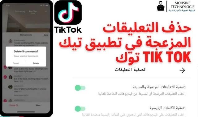 حذف التعليقات المزعجة في تطبيق تيك توك Tik Tok
