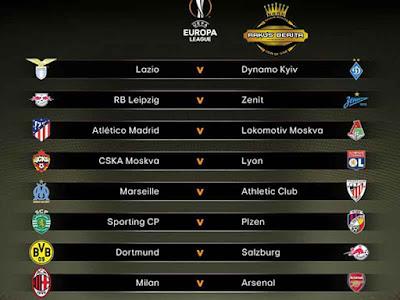 Jadwal Bola Liga Europa 16 Besar Musim 2017/18