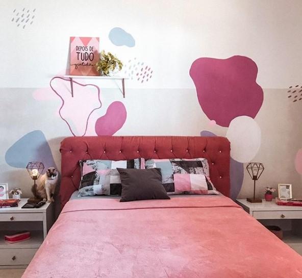 pintura orgânica quarto