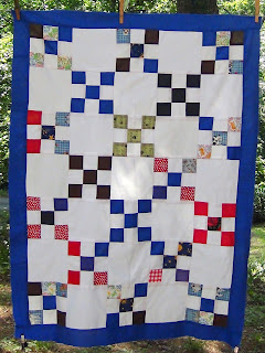 Scrappy Patchwork Pieced Quilt Top