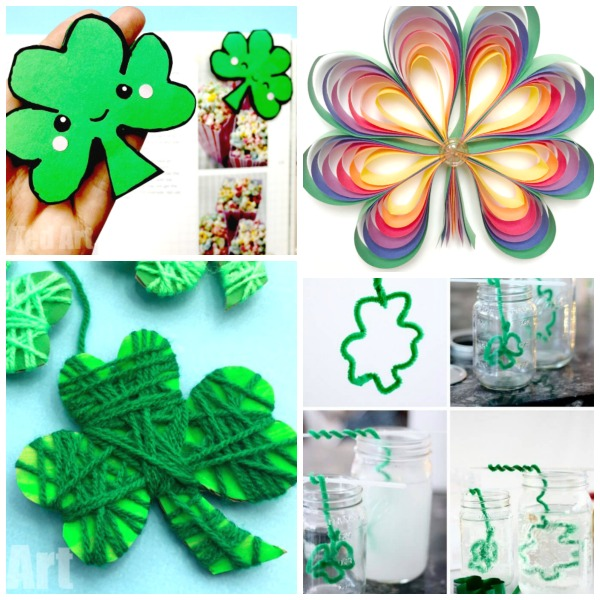 35 SHAMROCK CRAFTS FOR KIDS: tons of great ideas perfect for St. Patrick's Day!  #stpatricksdaycrafts #stpatricksday #shamrocks #kidsactivities