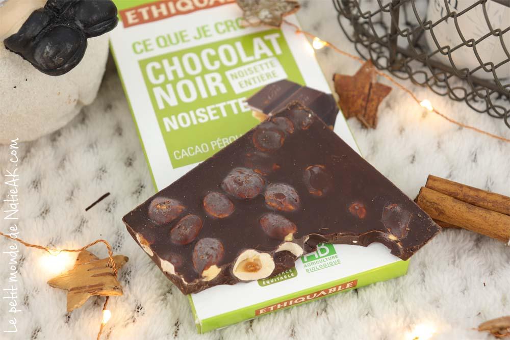 Ethiquable chocolat noir noisette