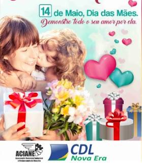 Promoção Aciane CDL Nova Era Dia das Mães 2017