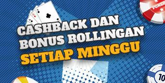 Cashback Dan Bonus Rollingan