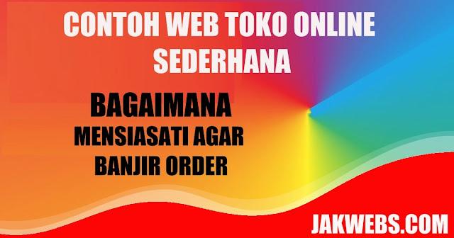 contoh website toko online sederhana, toko online sederhana, contoh toko onine