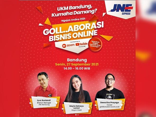 Dorong UKM Bandung Go Digital, JNE Hadirkan Goll..Aborasi Bisnis Online Kota Bandung