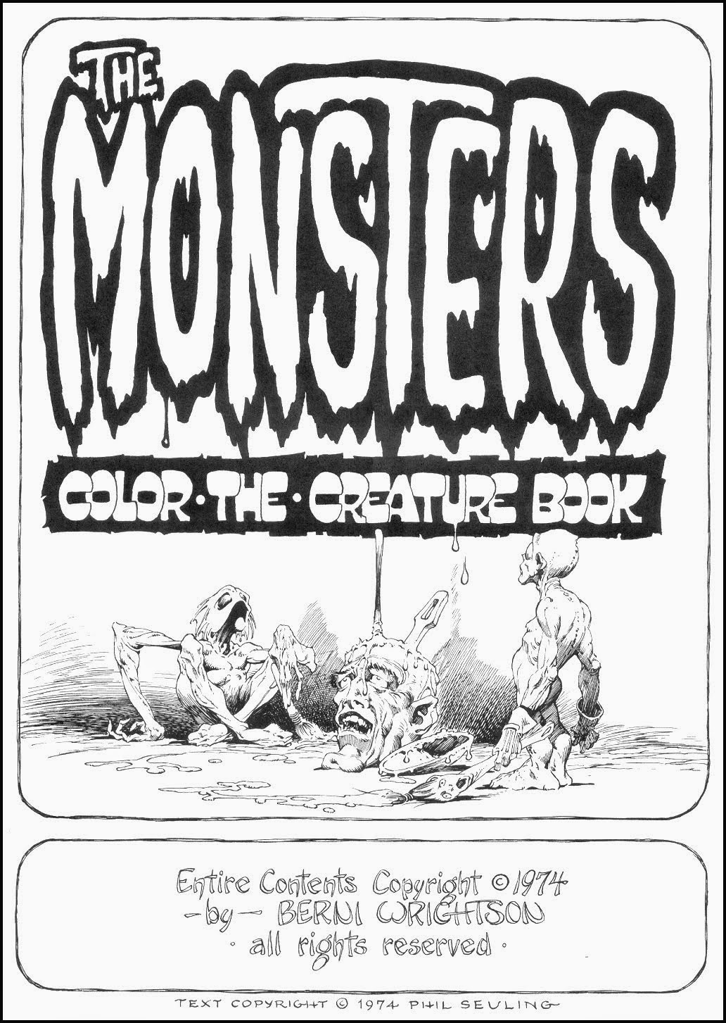 Here's a treat from 1974 berni wrightson's the monsters color the creature book it all came about because well here let berni tell you all about it