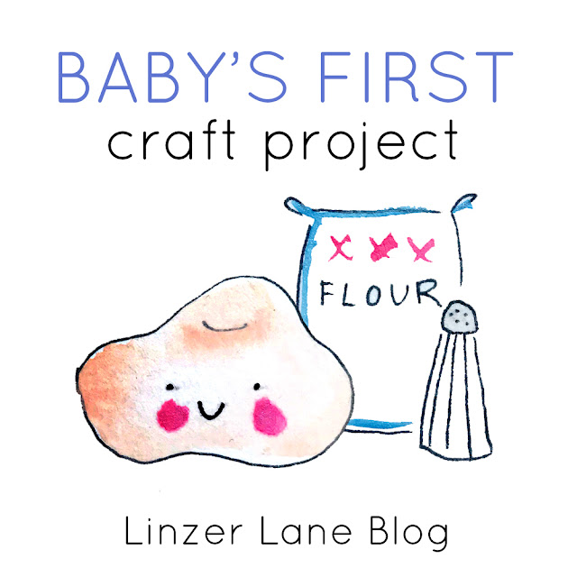 Baby's First Craft Project | Salt Dough Hand and Foot Imprint | Linzer Lane Blog