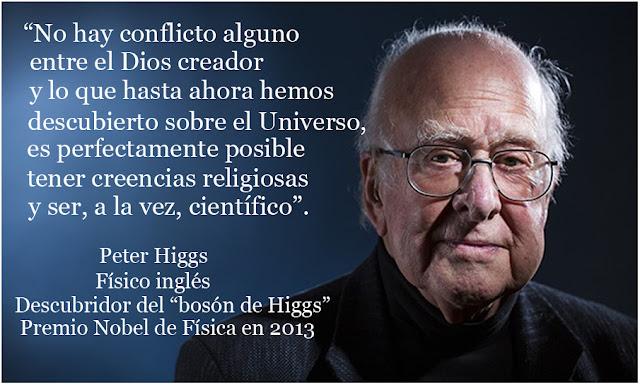 frases ciencia y dios peter higgs