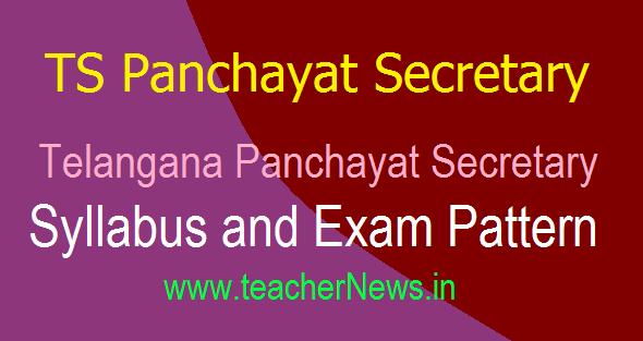 TS Panchayat Secretary Syllabus, Exam Pattern For Paper 1 and 2